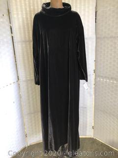 Cowl Neck Velour-Look Long Gown By Eskandar (Neiman Marcus Size 1)