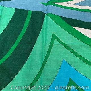 Vintage Emilio Pucci Abstract Cool Toned Scarf