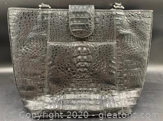 Vintage River Crocodile Skin Tote Bag