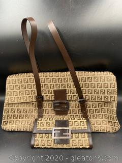 Fendi Zucca Canvas Bag With Wallet