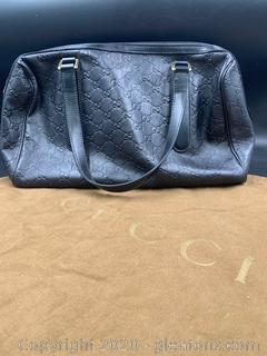 Gucci Boston Guccissima Leather Bag