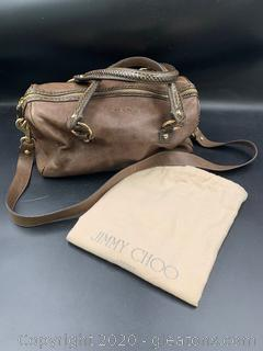 Jimmy Choo Crushed Leather Satchel