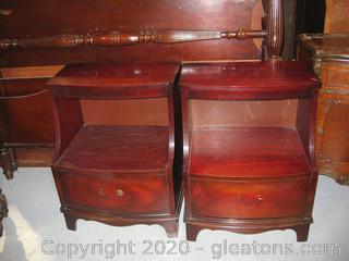 Pair of Mahogany Furniture Nightstands-Vintage