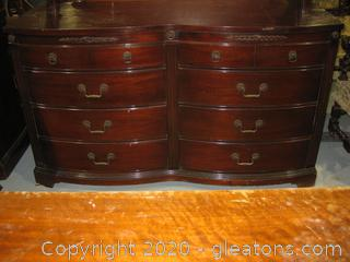 Vintage Mahogany Dresser With Mirror (Detached)