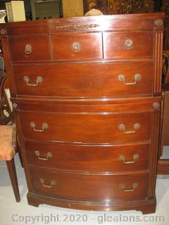 Vintage Mahogany High Chest of Drawers