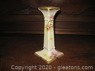 Vintage Handpainted Nippon Candle Stick