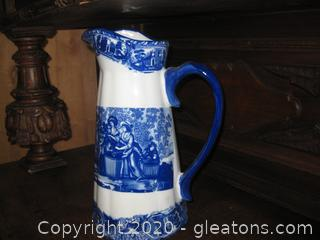 14 Inch Iron Stone Pitcher with Handle