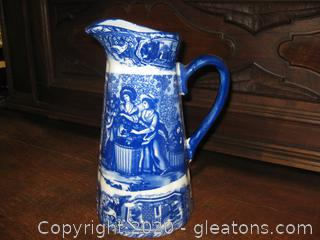 10-Inch Iron Stone Pitcher with Handle
