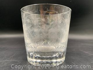 Baccarat Oversized Etched Cup