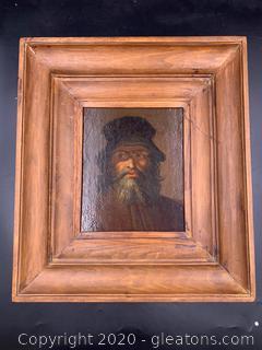 Original Portrait Of Man In Flat Cap