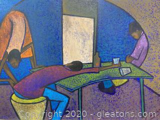 Ludovic Booz Original Familial Desperation Painting