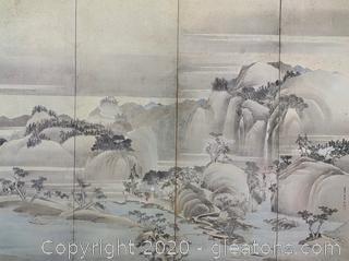 """Hokusai """" Landscape: Spring Summer"""""""