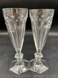 Baccarat Harcourt 1841 Champagne Flutes (A)