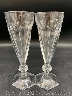 Baccarat Harcourt 1841 Champagne Flutes (B)
