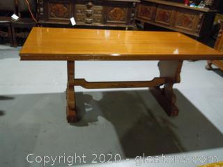 Mid Century Trestle Dining Room Table