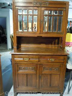 Antique French Country 2 Piece Buffet and Hutch