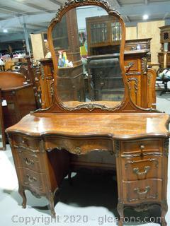 Vintage Johnson Furniture Co.Serpentine Dresser. French Provential