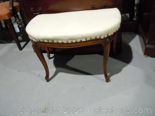 Upholstered Vanity Seat French Provential
