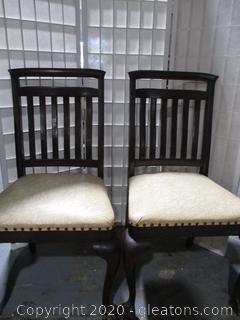 Antique Slat Back Side Chairs (2)