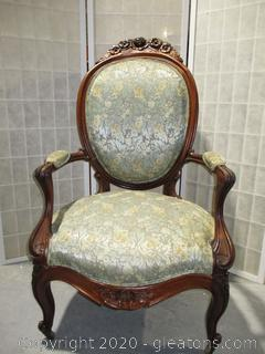 Antique Oval Back Parlor Chair