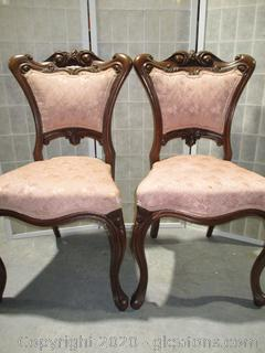 Pair of Antique, Parlor Chairs (2)