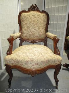 Antique Parlor Chairs (Bergere)