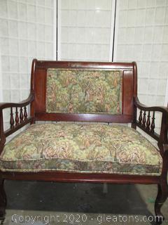 Mahogany Wood Antique Bench