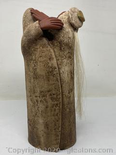 Lisa Lamonthe Pueblo Blanket People Sculpture Pair