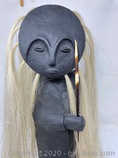 Original African Sculpture W/Detatchable Head (A)