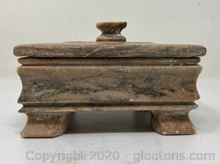 Quartz Trinket Box W/Lid