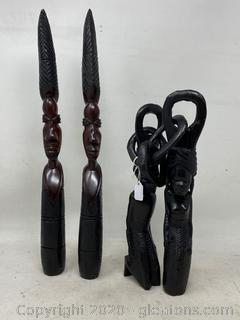 Collection Of Ebony Statues