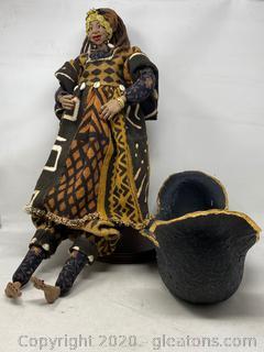 Handmade Doll And Basket