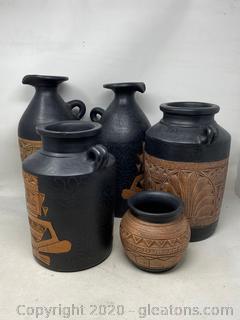 5 Pc Pottery Set