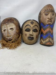 Large Collection Of African Wall Hanging Masks