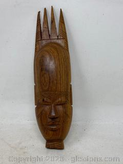 Wooden Wall Hanging Mask Carving