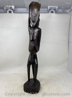 """Hand Carved Sculpture """"Standing Man"""""""