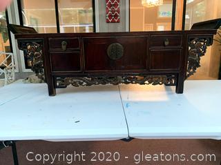 Antique Asian Carved Petite Altar Table