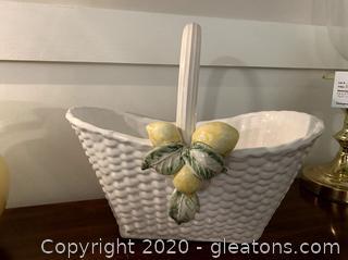 Vintage Savior Vivre Porcelain Basket