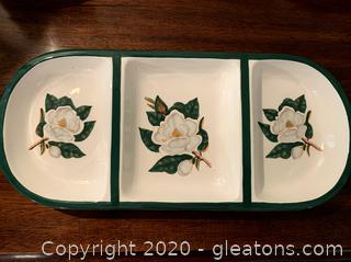 Magnolia Design Ceramic Serving Dish