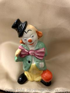 "Goebel Clown Figurine Vintage 4"" Tall Porcelain"