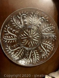 Round Divided Crystal Tray