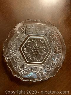 Vintage Pressed Glass Small Dish