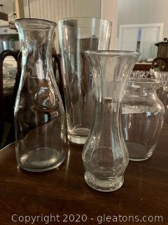 Glass Vases Lot