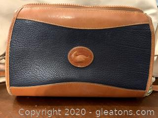 Dooney & Bourke Vintage Navy & Tan Purse
