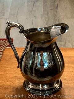 Vintage Newbury Port Silver Water Pitcher