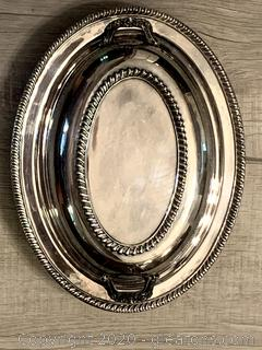 Vintage Silver Covered Serving Dish