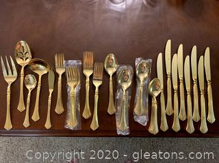 Rogers Gold Plate Tableware 53 Piece Set