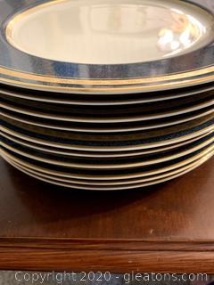 MIkasa Imperial Lapis Dinner Plates (10)