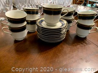 Mikasa Imperial Lapis Cups and Saucers