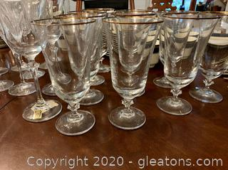 Vintage Oneida Crystal Wine/Beverage (12)